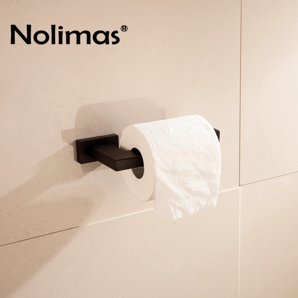 Matte Black Stainless Steel Toilet Paper Holder Bathroom Toilet Holder For Roll Paper Towel For Bathroom Accessories