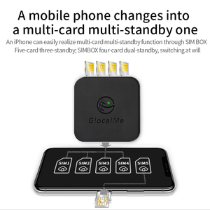 Image 2 - Multi 4 SIM Dual Standby No Roaming 4G SIMBOX for iOS Android No Need Carry Work with WiFi Data to Make Call & SMS for iOS 8 12