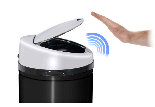 50L Practical Infrared Stainless Steel Garbage Touchless Dustbin Kitchen  Sensor Trash Can Automatic Waste Bin