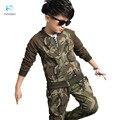 Esportes dos miúdos das Crianças terno menino define conjunto de roupas de inverno Menino uniformes de camuflagem Camisolas terno Crianças menino inverno 30 #