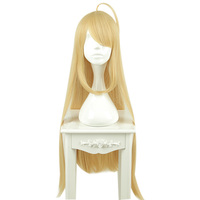 MCOSER 90CM Long straight Wig Synthetic Light Yellow color 100% High Temperature Fiber Hair Free Shipping WIG-662B