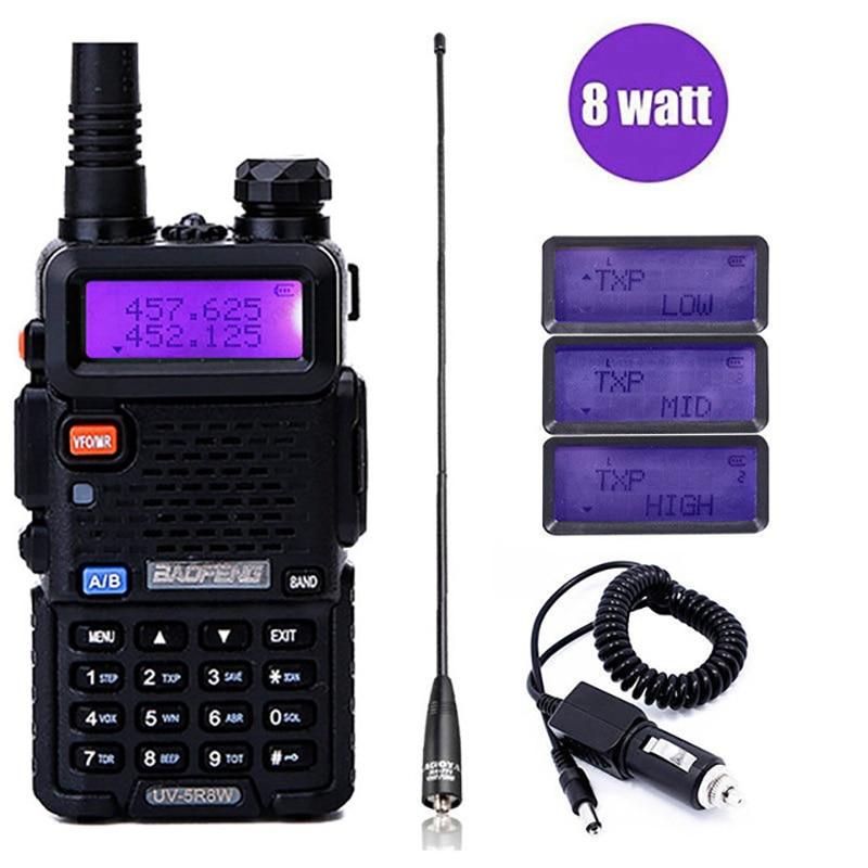Baofeng UV-5R 8 w Haute Puissant Deux Way Radio Talkie Walkie 8 Watts CB Jambon Portable Radio 10 km Longue gamme Pofung UV5R pour La Chasse