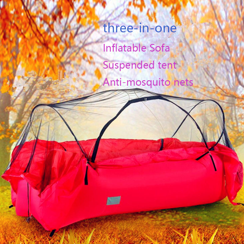 2018 newest Inflatable Sofa Suspended tent Anti mosquito nets 3 in 1 outdoor furniture camping tents loading 200kg sleeping bag