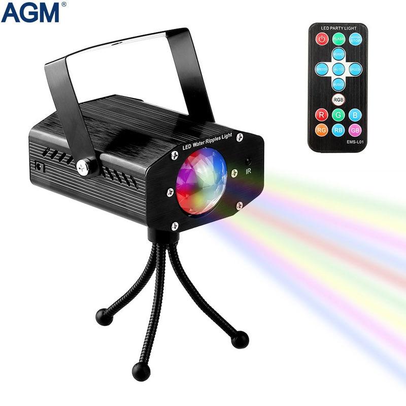 7 Colori Rotante Proiettore Laser Suono attivato Lumiere Effetto di Fase di Illuminazione Di Natale Lampada Del Partito Della Discoteca Club DJ Luci Stroboscopiche