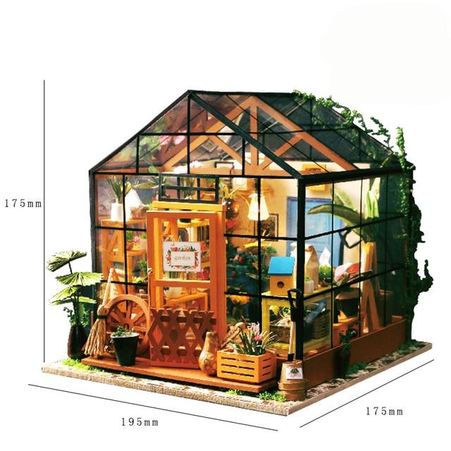 Casey Der Gewachshaus Garten Diy Puppenhaus 3d Miniatur Lichter