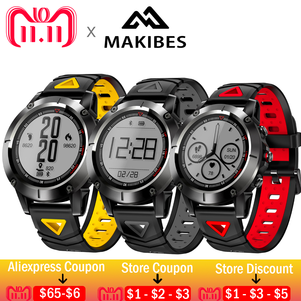 Makibes K6 gps компас прозрачный Экран IP68 спидометр спортивные часы монитор сердечного ритма Multi-Спорт фитнес трекер SmartWatch
