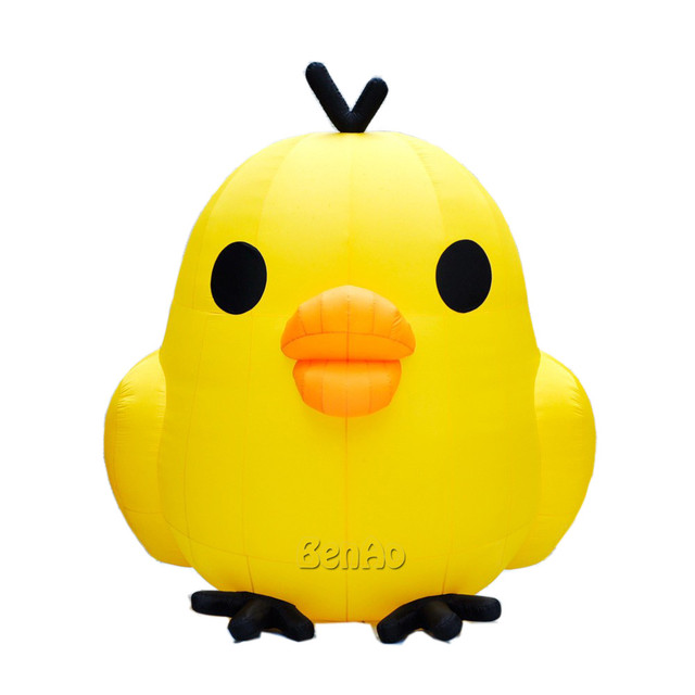 AC236 Бесплатная доставка + вентилятор 3 м Симпатичный надувной желтый цыпленок/гигантские надувные курица модель для наружного события