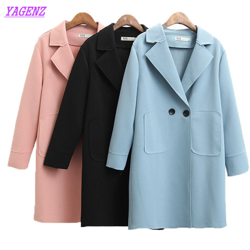 Plus size Windbreaker coat Women Spring Autumn New Loose Long sleeve   Trench   Coat Elegant Women High quality Wild Overcoat B679