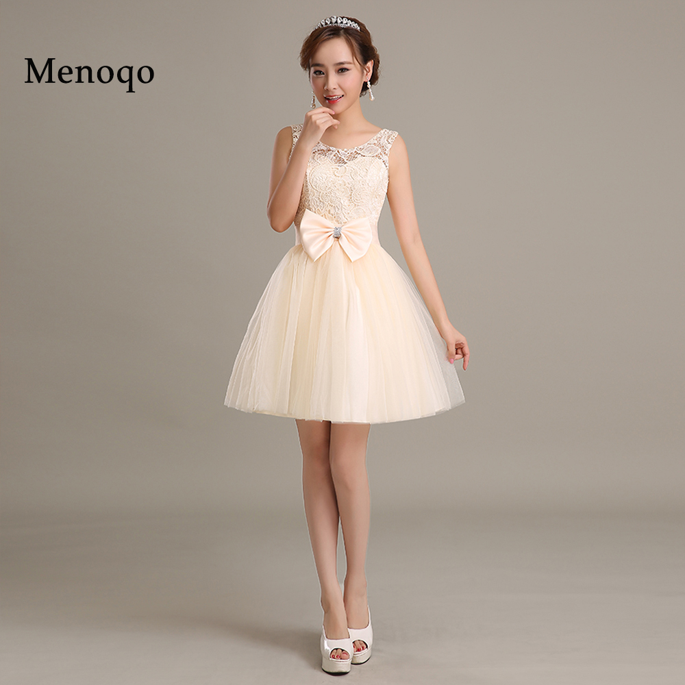 Pretty Lace Tulle   Cocktail     Dresses   Cheap Short A Line Evening Party   Dress   Special Occasion Gowns