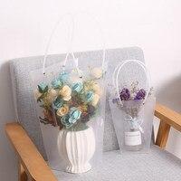 ПВХ букет цветок подарочные коробки для жизни вазы флорист коробка Цветочные мешки для растений День Рождения вечерние и свадебные спасибо...