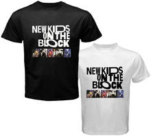 95c656fd3520f NKOTB New Kids On The Block Boy Band Legend Men s White Black T-Shirt Size S -3XL