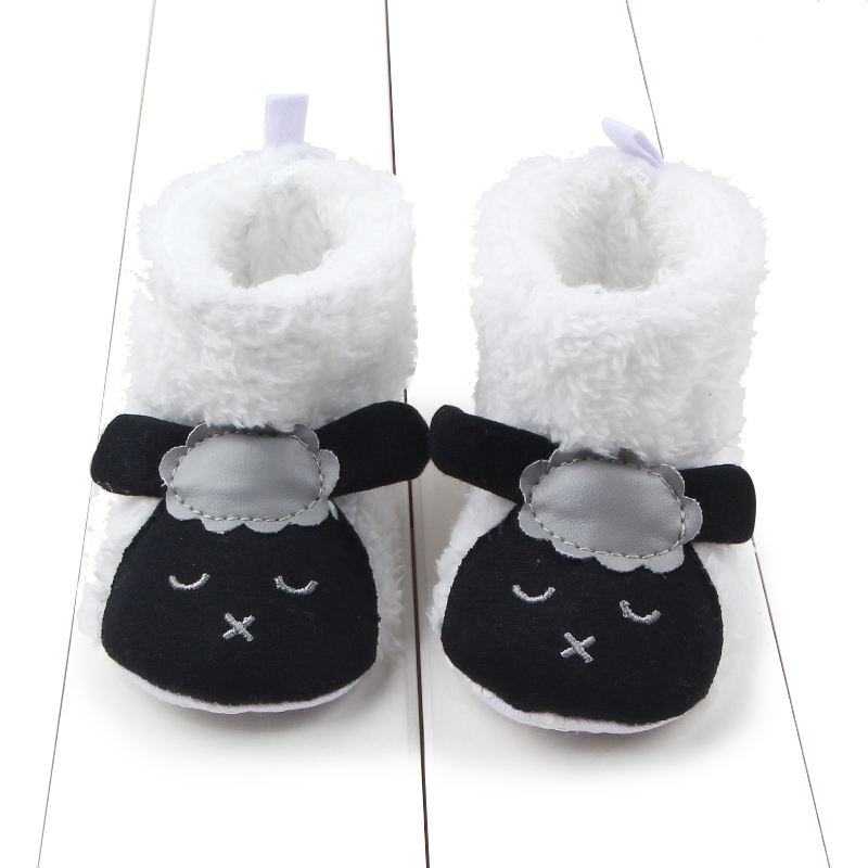 Adorabl Animal Cartoon Winter Boots Soft Bottom Baby Moccasin Baby First Walkers Baby Shoes Warm Non-slip Boots for Baby Girls