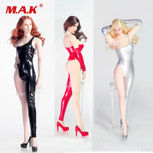 1/6 Scale Sexy woman Tight Leather dress High heels clothing set Leather jumpsuit Figure Model for female body figure toy gift sgtoys s 09 1 6 scale female figure accessory woman sexy double split long skirt set with high heels