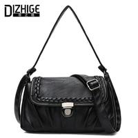 DIZHIGE Brand Fashion Soft PU Leather Shoulder Bags Small Knitting Crossbody Bags Women High Quality Ladies