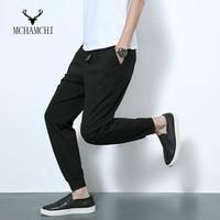 MCHAMCHI Black Harem Pants 2017 New Spring Male Korean Fashion Slim Men S Casual Joggers Hip