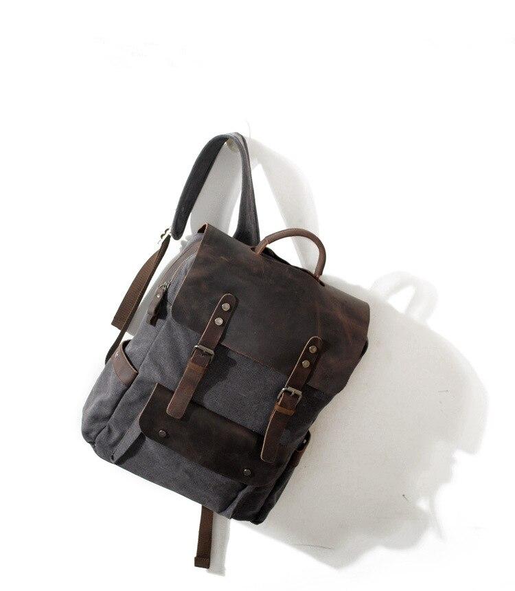 Rucksack Bag School Vintage College 04 Mit 03 Schicht Mode Kuh Leinwand Einfache Erste Leder 01 02 Neutral XwHnYqx