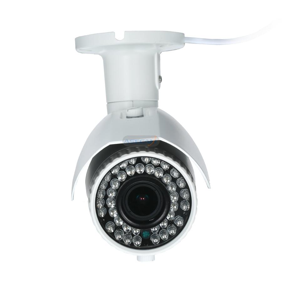 POE HD 720P IP Camera Varifocal Outdoor Security 42 IR Night RTSP Onvif 2.8-12mm