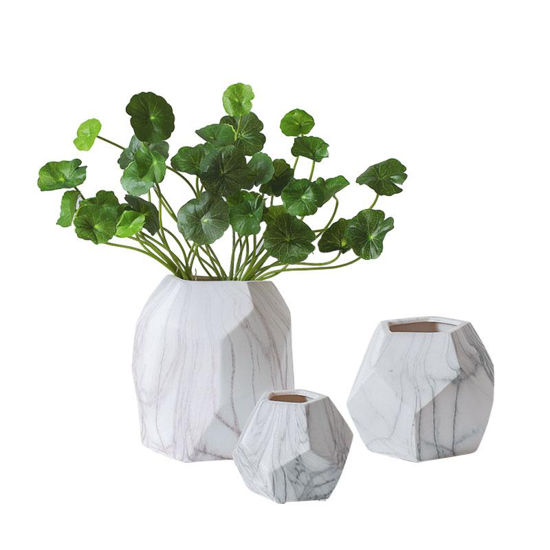 Creatieve Marmeren Textuur Keramische Vazen Office Desktop Pot Thuis Wijnkast Decoratie Decor Botanic Vaas Kerstcadeaus