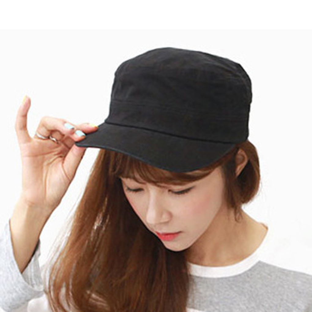 9b6519acb8e Stylish Women Girl Man Unisex Hat Flat Top Casual Fashion Couple Tennis  Baseball Cap-in Baseball Caps from Apparel Accessories on Aliexpress.com