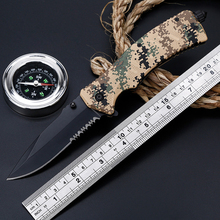 Folding Knife High Hardness Camouflage  Outdoor Survival Multi-function Hunting knife Pocket