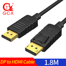 GCX DP to HDMI Cable Adapter 1080P Male to Male Display Port to HDMI Cord For Projector Monitor Laptop DisplayPort HDMI Cable 1080p hdmi v1 4 male to micro hdmi male adapter cable black 180cm