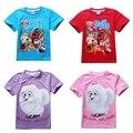 4-12 anos de verão 2016 Novos meninos t camisa dos miúdos do bebê A A Vida secreta de Animais de Estimação roupas para crianças roupas para meninas camisetas Menino topos