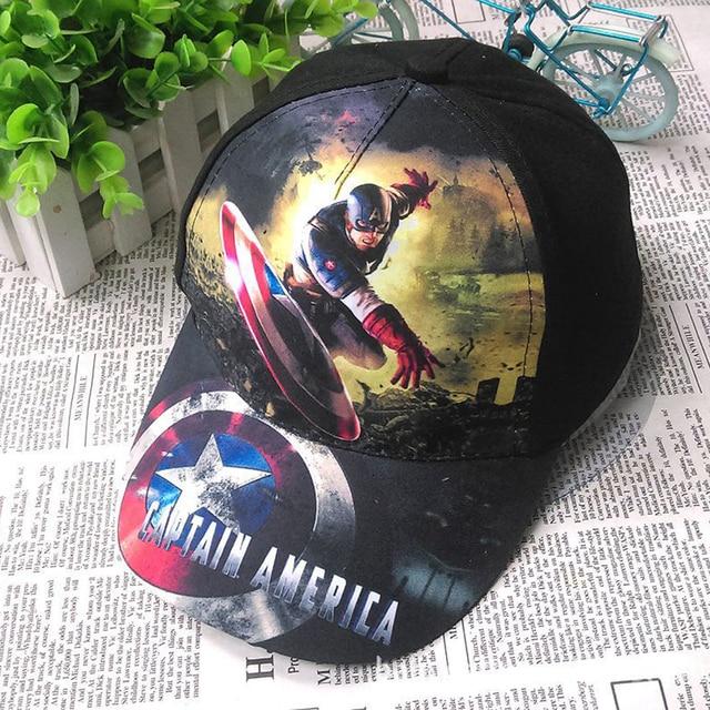 f18c94c7a13a2c 2018 Captain america & Spider super man Children print Cotton Cap kids Boy  Girl Hip Hop sun Hat cosplay accessary