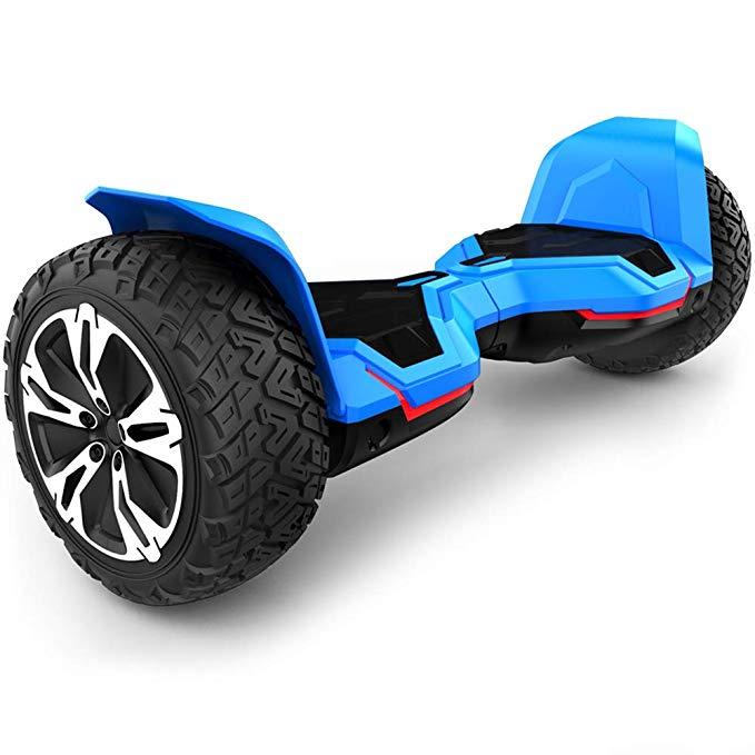 Couleur bleue Gyroor guerrier 8.5 pouces hors route Hoverboard haut-parleurs de musique et lumières de LED auto équilibrage Scooter électrique