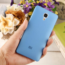 good Price 0.3mm Ultra very Thin Slim soft plastic Case Cover for Xiaomi 4 xiao MI M4 Mi4 MI4 Case protector skin back mobile(China)
