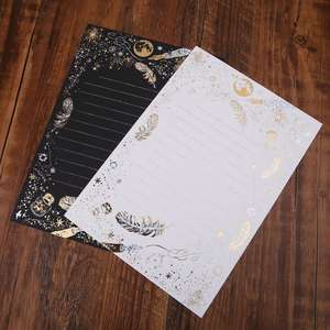 Paper-Pad Letter School-Supplies Office Vintage Writing 8-Sheets Blessing Bronzing High-End