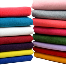 50x150cm Thickened double cashmere woolen winter sanding solid Artificial wool fabric clothing DIY coat fabric bag mail 500g