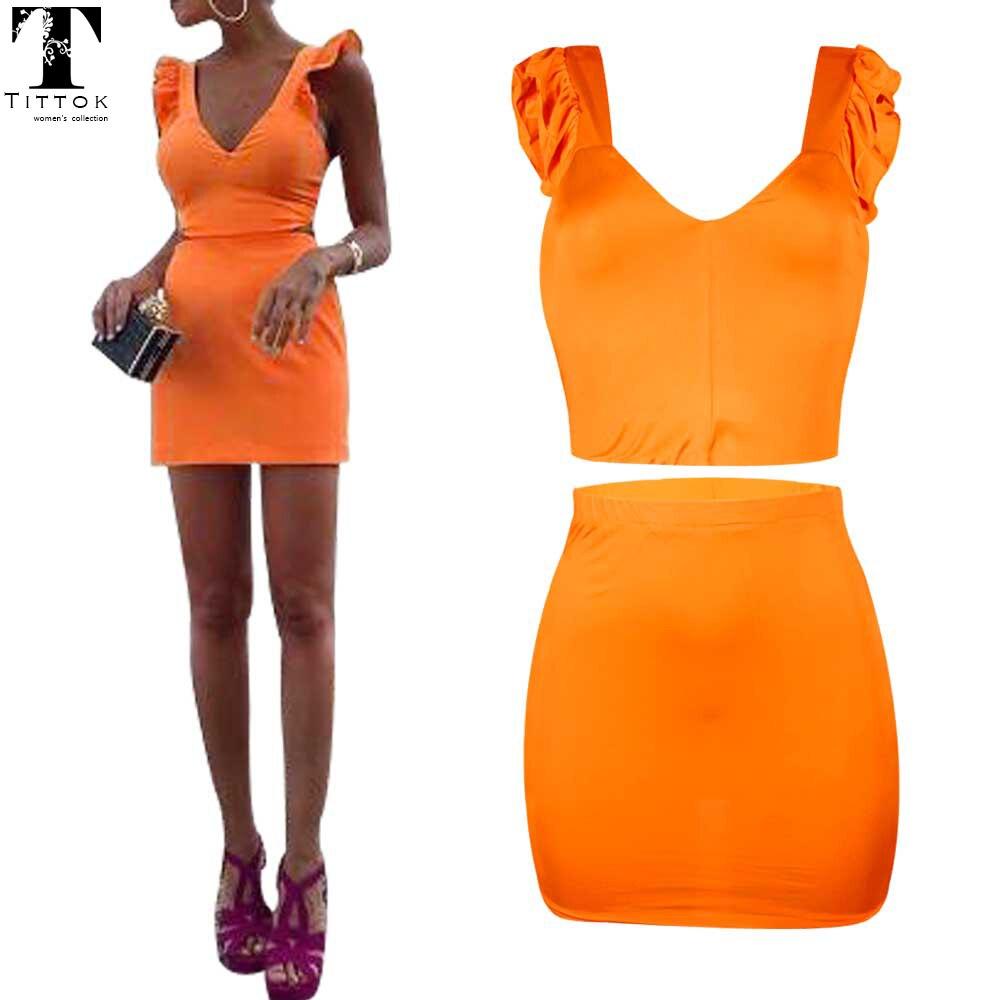 sexy oranje jurk