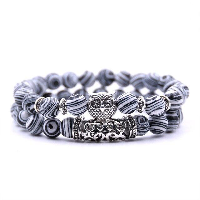 Bracelet de distance couple marbre