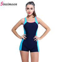 Sexy Boxer Shorts One Piece Bathing Suit Athletic Swimwear Competition Swimsuit Straight Angle Shorts Professional Swim