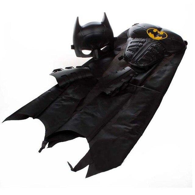 Супергерой Бэтмен Косплей Костюм Маска Броня Накидки Карнавал День Рождения Хеллоуин Костюм для Детей Рождественский Подарок