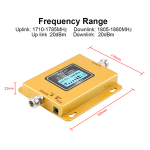 Image 2 - GSM LTE 1800 LCD 70dB 2g 4g Cell Phone Signal Repeater DCS 1800MHz + outdoor/indoor  antenna