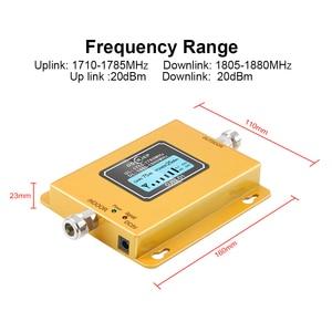 Image 2 - Gsm lte 1800 lcd 70db 2g 4g 휴대 전화 신호 리피터 dcs 1800 mhz + 실외/실내 안테나