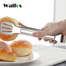 цена на WALFOS Kitchen Utensils 304 Stainless Steel Food Tongs Buffet Cooking Tool Anti Heat Bread Clip Pastry Clamp Barbecue Kitchen