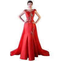 Lato Czerwona Panna Młoda Ślub Qipao Elegancki Chiny Kobiety Satin Qipao Tradycyjny Vestido Orientalne Formalna Chiński Sukienki Długie