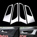 4Pcs ABS Matt Interior Inner Side Door Handle Bowl Cover Trim Decor Frame Decoration For Tucson 2015 2016 Bezel Garnish