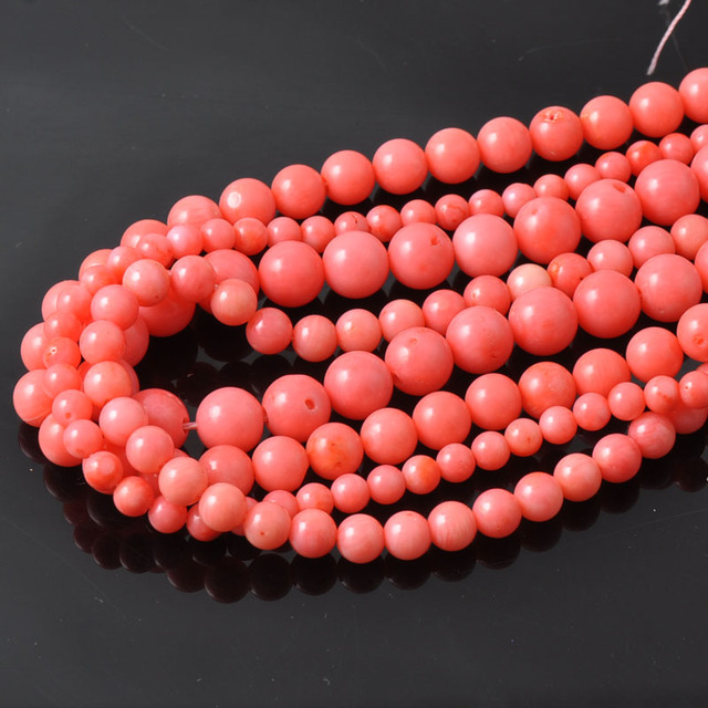 Red Coral Natural Round Coral Beads For Jewelry making DIY 4/6/8/10/12mm TRS0050
