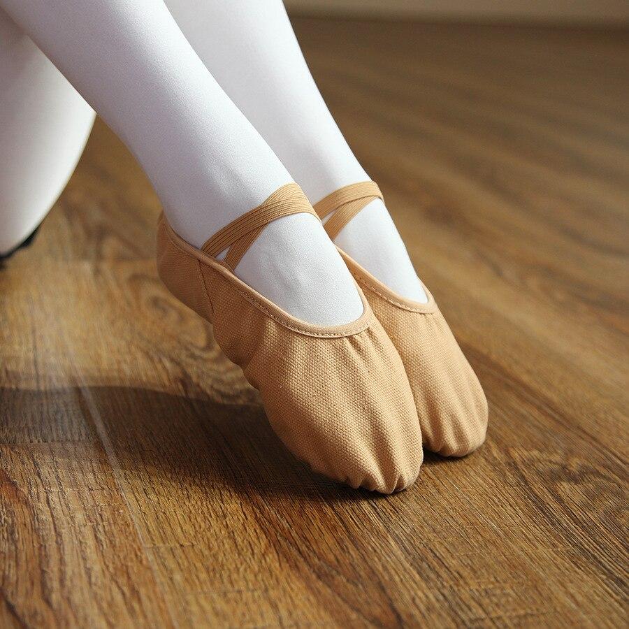 Half PULeather Sole ballet pointe Dance Shoes Rhythmic Gymnastics SlippersCYN