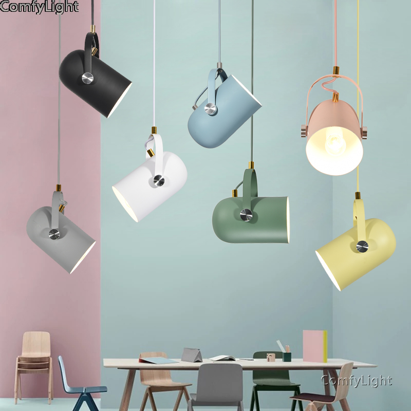 Modern Pendant Lights Lustre Luminaire Hanglamp Nordic Minimalism Droplights Dining Room/bedside/kitchen Home Lighting Decor E27