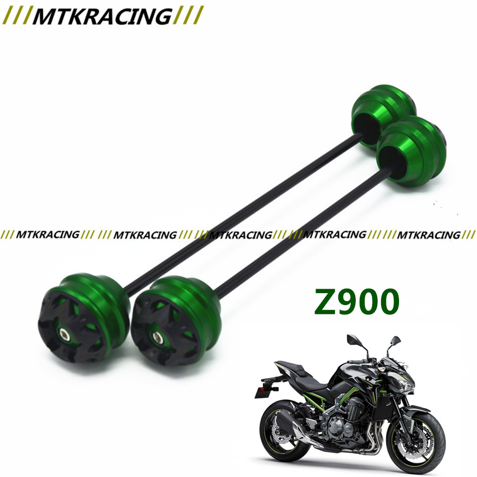 MTKRACING For Kawasaki Z900 2017 CNC Modified Motorcycle Front and rear wheels drop ball / shock absorber футболка diesel diesel di303emvbi32
