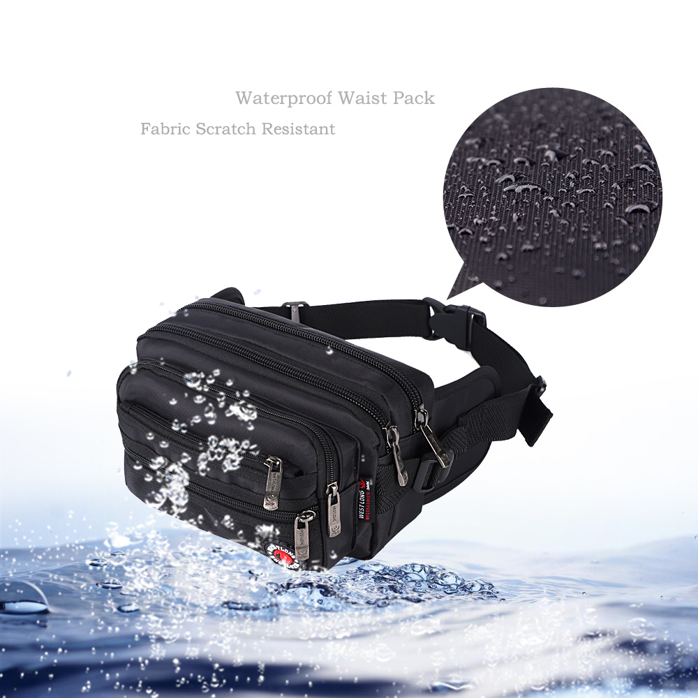 Image 3 - Waist Pack Casual Functional Fashion Men Waterproof Fanny Pack Women Belt Bum Bag Male Phone Wallet Pouch Bags Unisex 98011-in Waist Packs from Luggage & Bags