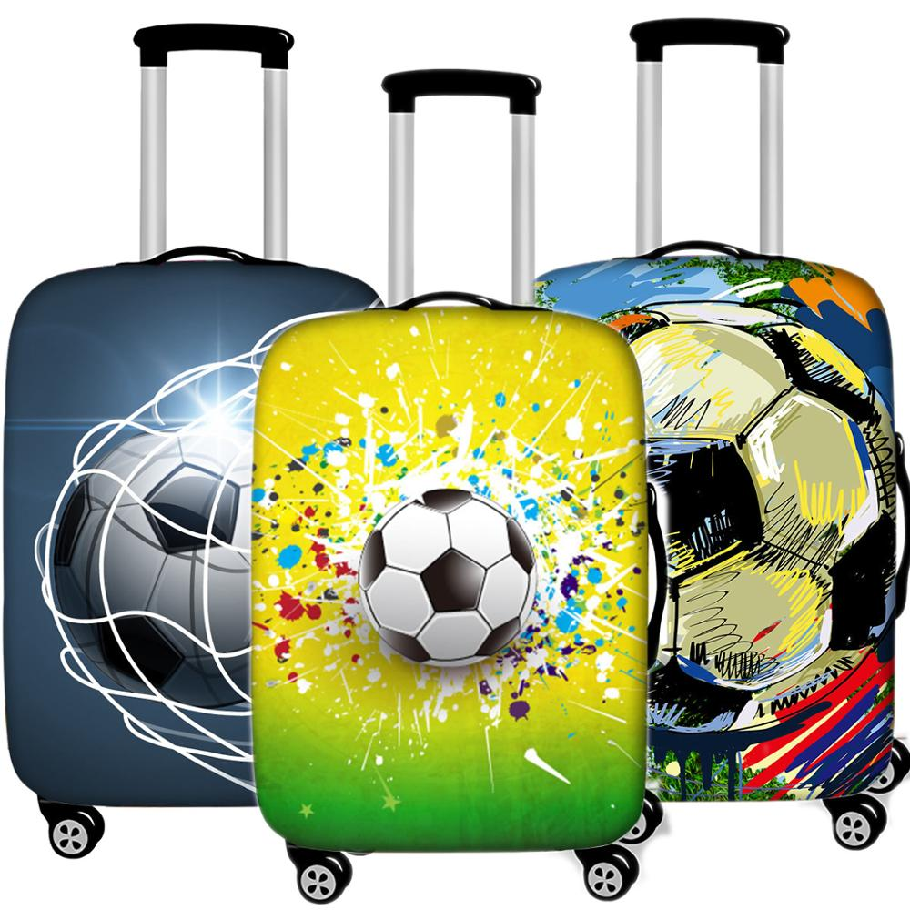Creative 3D Football Luggage Cover Protective Case Waterproof Thicken Elastic Suitcase Case For 18 - 32 Inche Travel Accessorie