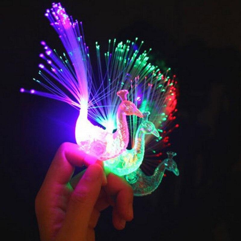 Cartoon Funny Peacock  Toys Finger Lamp  Children Baby Kids Light Up Toys Novelty Toys Light Random Color