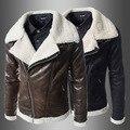 Черный косой молнией мода мотоциклы кожаная куртка мужчины певица танец мужские кожаные куртки и пальто chaqueta cuero хомбре