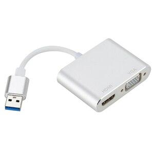 Image 1 - タイプ c hdmi/vga オーディオビデオケーブルのコンバーターへのラップトップコンピュータ 2 で 1 usb 3.0 USB2.0 hdmi アダプタ 4 18k hd 1080 p