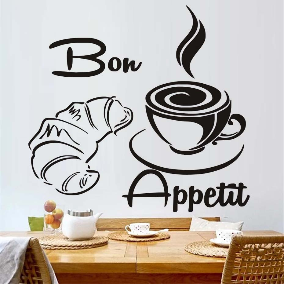 popular french modern furniturebuy cheap french modern furniture  - large size free shipping modern coffee croissant french bon appetit kitchenwall stickers home decor